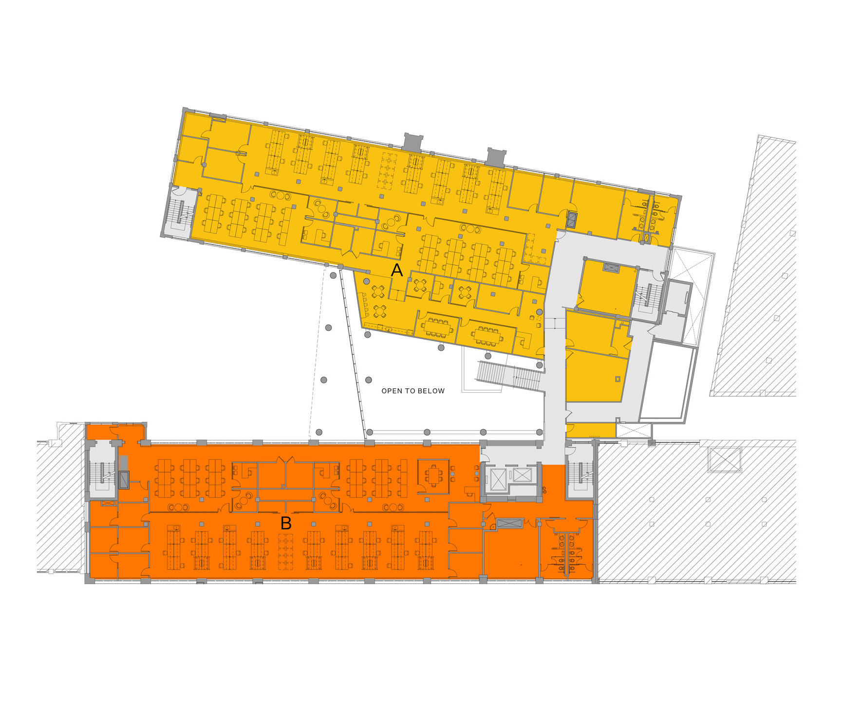 Blueprint layout of Winchester campus level 2