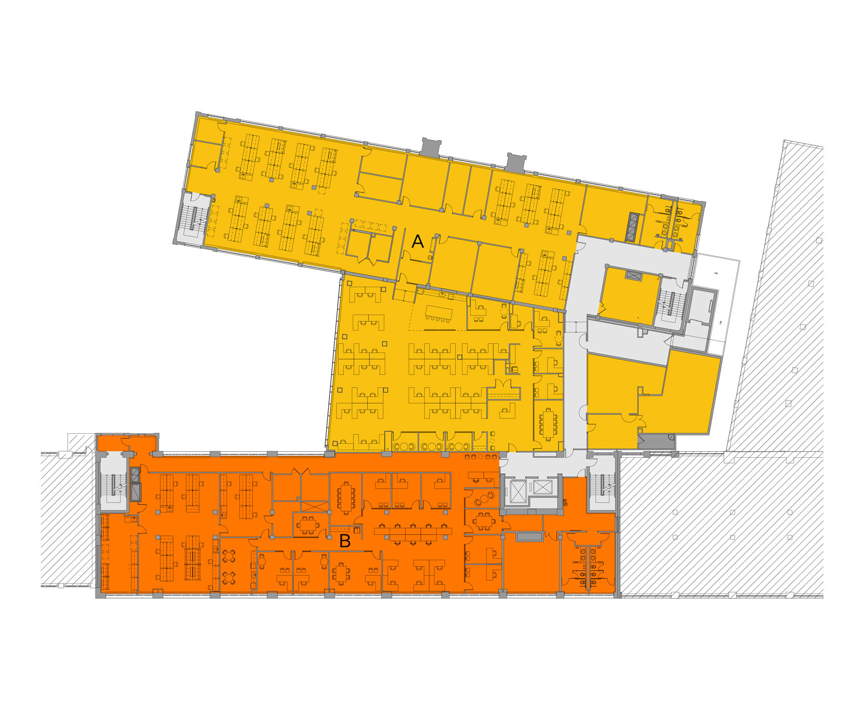 Blueprint layout of Winchester campus level 3