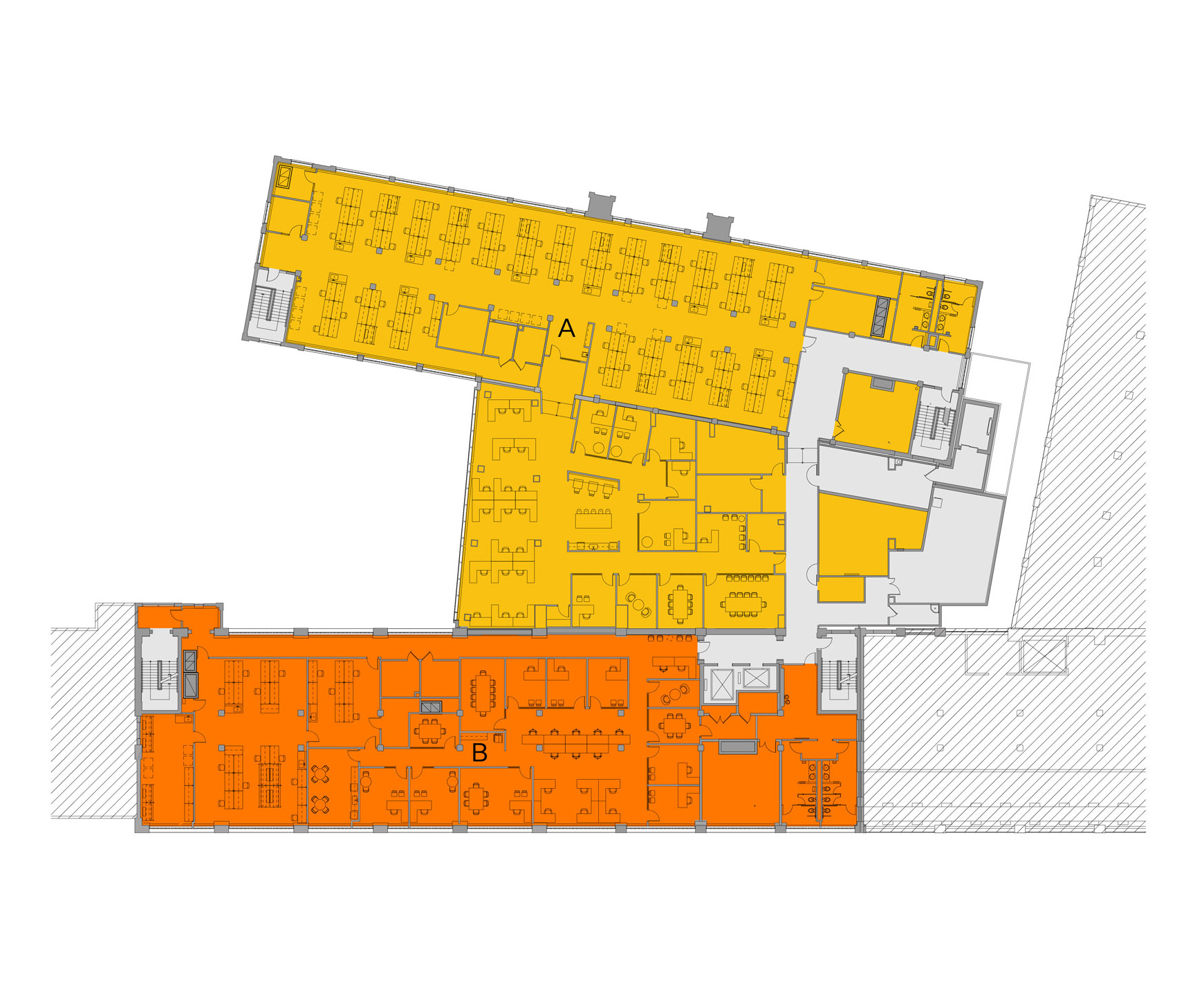 Blueprint layout of Winchester campus level 4