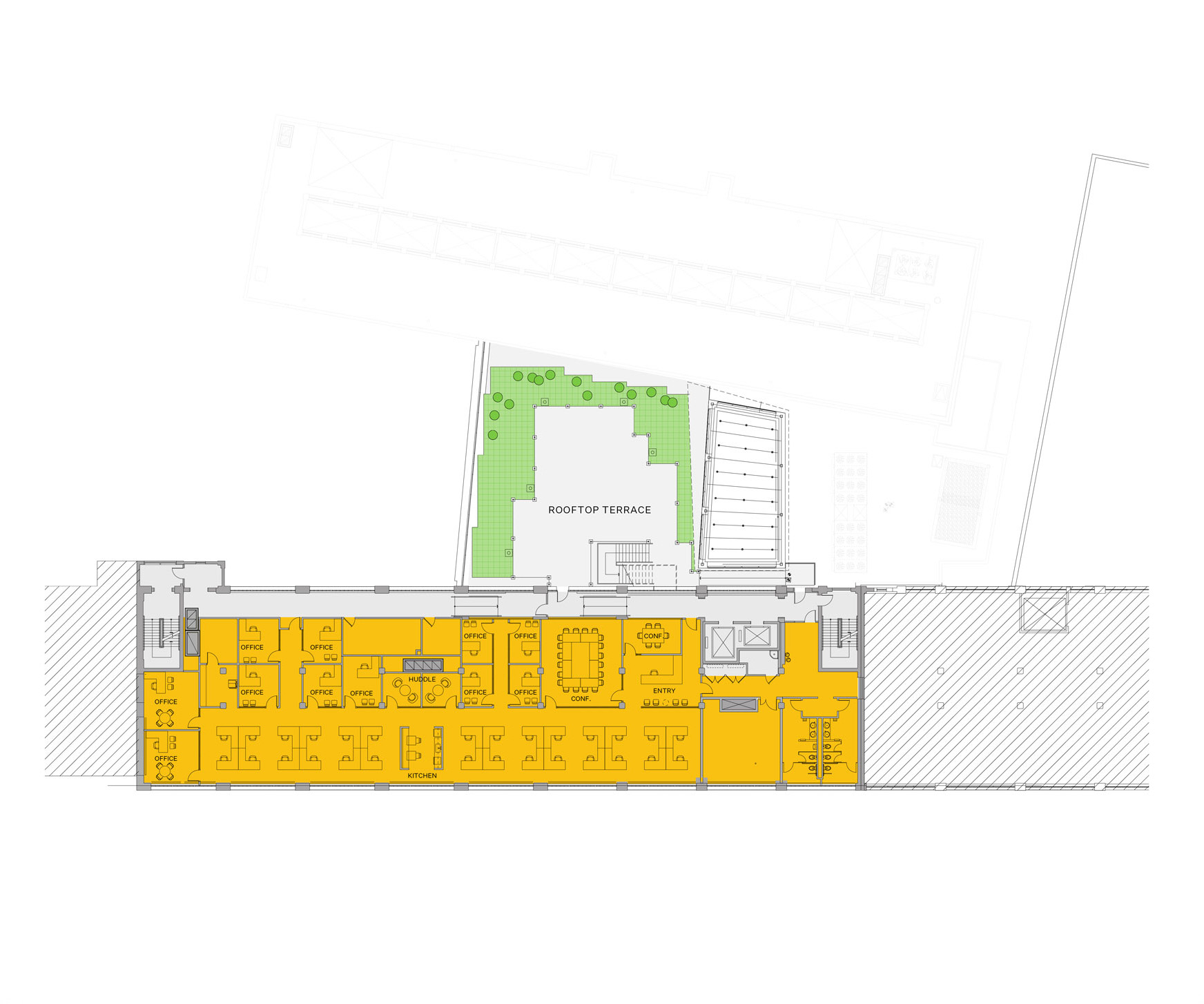 Blueprint layout of Winchester campus level 5